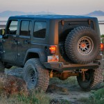 Jeep JK Wrangler Trail Series Rear Bumper with Smooth Motion Tire Carrier